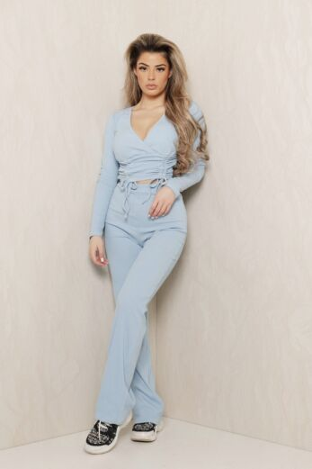 Change of Heart Ruched Two Piece Blue