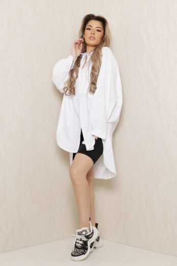 Eve Say When Oversized Blouse Dress White Front
