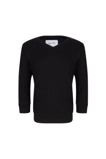 By Veer Kids V-Neck Sweater Black Front