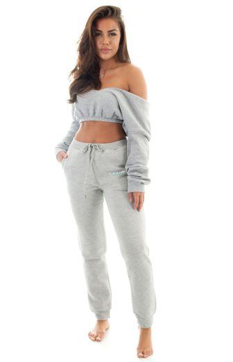 Yasmine Cropped Sweatshirt Grey