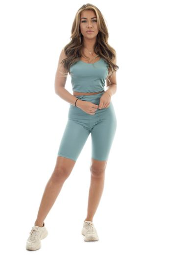 Eve Poly Cycling Sport Set Teal Front