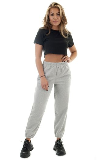 Eve Lazy Joggers Grey Front