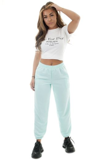 Eve Lazy Joggers Mint Front
