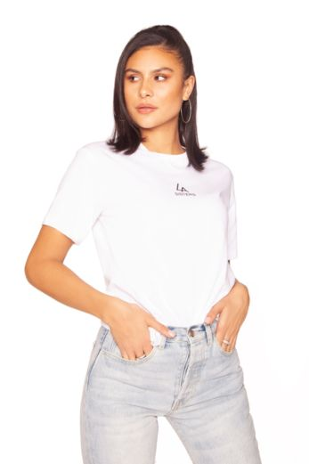 Basic Mini Logo Tee White