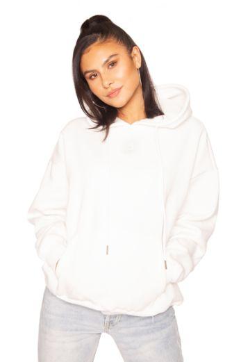 Mini Logo Oversized Hoodie White