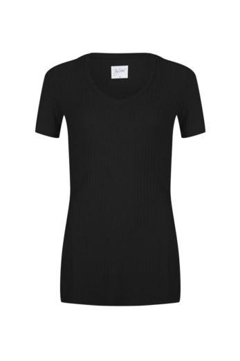 By Veer V-Neck Tshirt Black Front