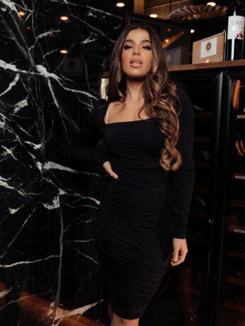 Lynn Ruched Dress Black
