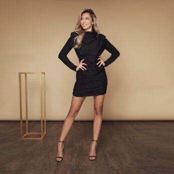 Holly High Neck Dress Lurex Black