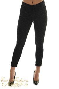 Eve Star Pants Suede Black