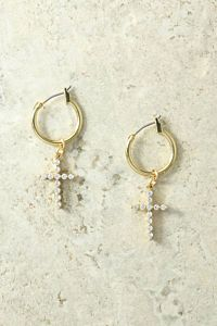Vanessa Mooney The Saint Rita Cross Earrings Front Close