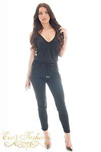 Jacky Luxury  Jade Traveller Jumpsuit Black Front