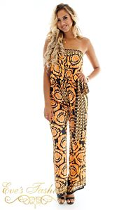 Eve Exclusive Marrakech Jumpsuit Gold Front