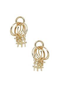 Ettika Best Of Best Cross Earrings Gold
