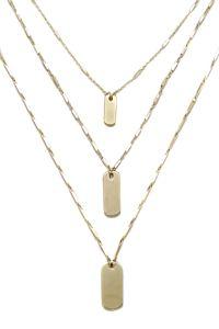 Ettika Tripe Layered Necklace Gold In Gold
