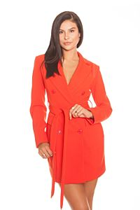 LA Sisters Crepe Blazer Dress Orange