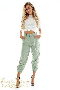 Eve Chain Pants Khaki Front