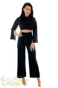 Reese Two Piece Loungewear Black