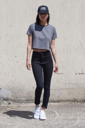 Crocodile Crop Top Grey