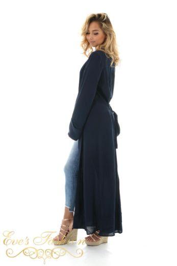 Damy Duster Coat Blue Side