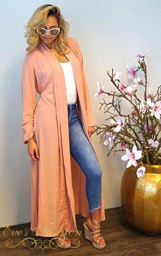 Damy Duster Coat Pink