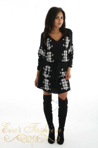 Miami Dress Black Front