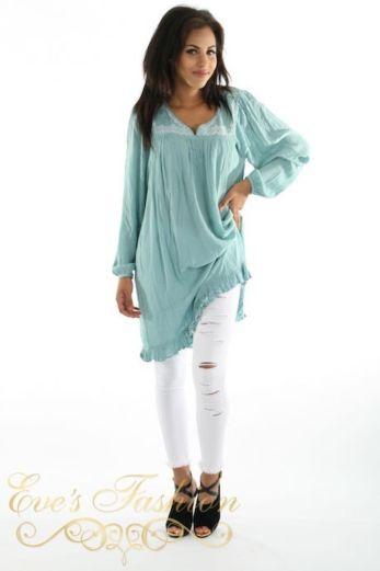 Boby Dress Aqua Front