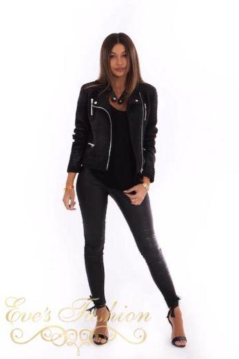 Wool Biker Jacket Front