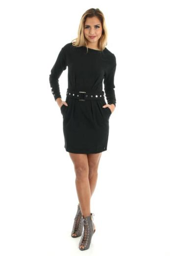 Victoria Dress Belt Black Front