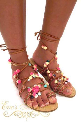 Boho slippers front