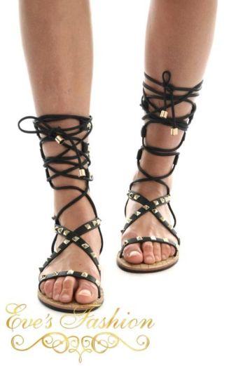 Gladiator Sandal Black Front