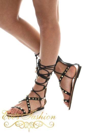 Eve - Gladiator Sandal Black