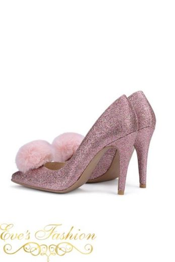 Eve - Fashion Chic Heels Glitter Pink
