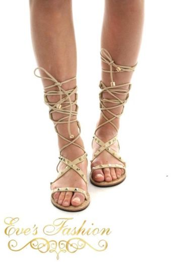 Gladiator Sandal Nude Front