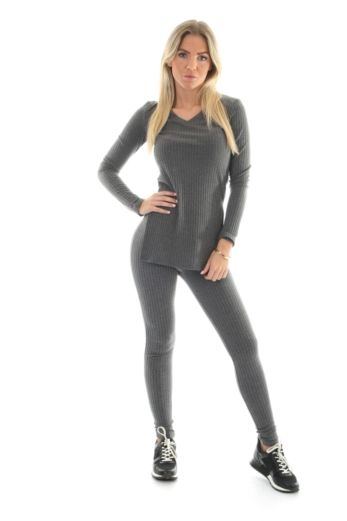 By Veer V-Neck Sweater Dark Grey Front