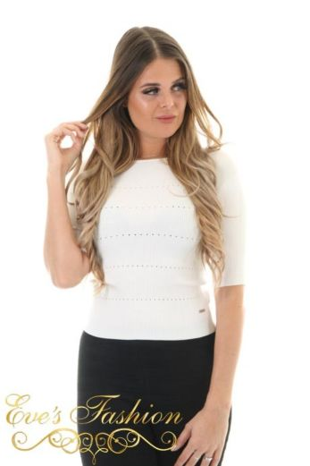 Open Back Top White Front Close