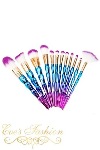 Eve Mermaid 12 Make-up Brushes