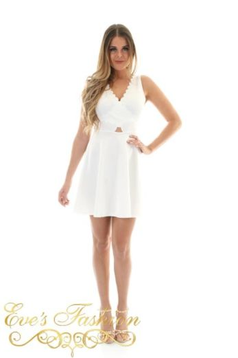 Abby Dress White Front