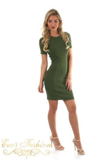 Fiona Dress Army side