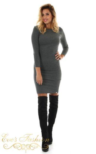 Jacky Luxury Fancy Sweat Dress Antrecite Front
