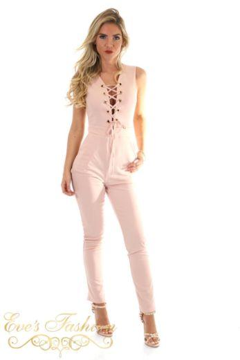 Zara Jumpsuit Pink Front
