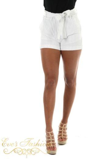 Eve Sailor Striped Short Close Front