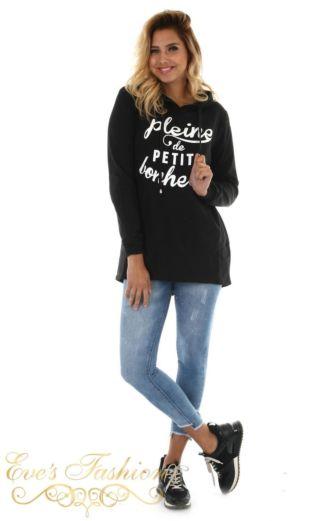 Eve Plaine Sweater Black Front