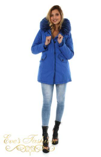 Eve Parka Kobalt Blue Front