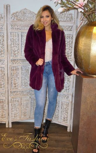 Madam Chloe Coat Bordeaux