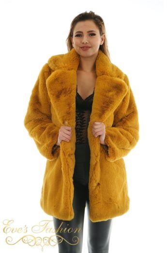 Eve Madam Chloe Coat Oker Close