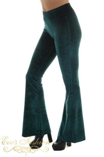 Eve Chelsey Velvet Pants Petrol Side