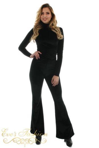 Chelsey Velvet Pants Black
