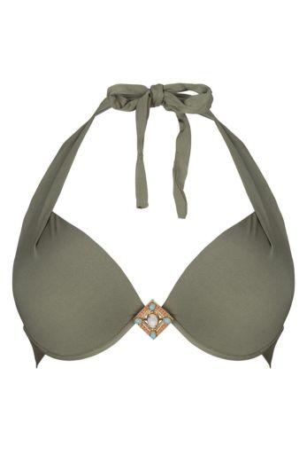 Boho Bikini Triangle Top Supreme Olive