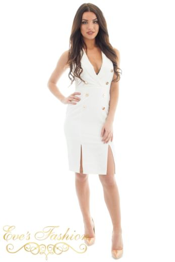Eve Exclusive Vivi Blazer Dress White Front