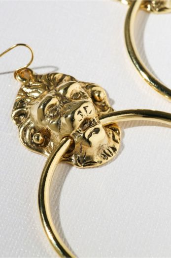The Vandal Door Knocker Earrings Gold